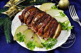 Запеченная свинина с грушами