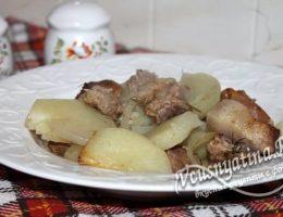свинина с картошкой