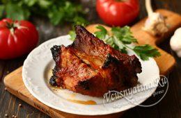 Свиные ребрышки с соусом барбекю