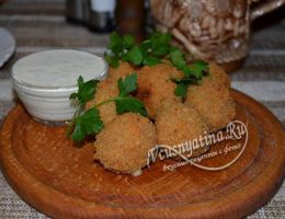 Сырные шарики во фритюре – рецепт