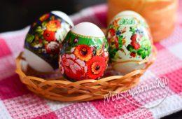 Наклеенные термонаклейки на яйца