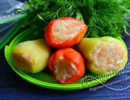 замороженный перец с мясом и рисом