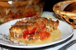 Помидоры запеченные с сыром в духовке: рецепт с фото