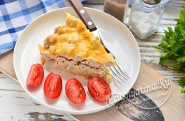 Миниатюра к статье Запеканка из кабачков с фаршем и сыром в духовке