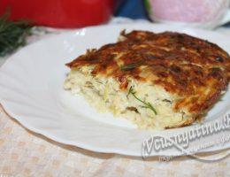 готовая творожная запеканка из кабачков с сыром